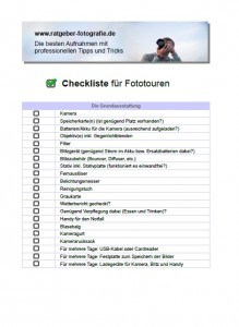 Cover-Checkliste Fototouren