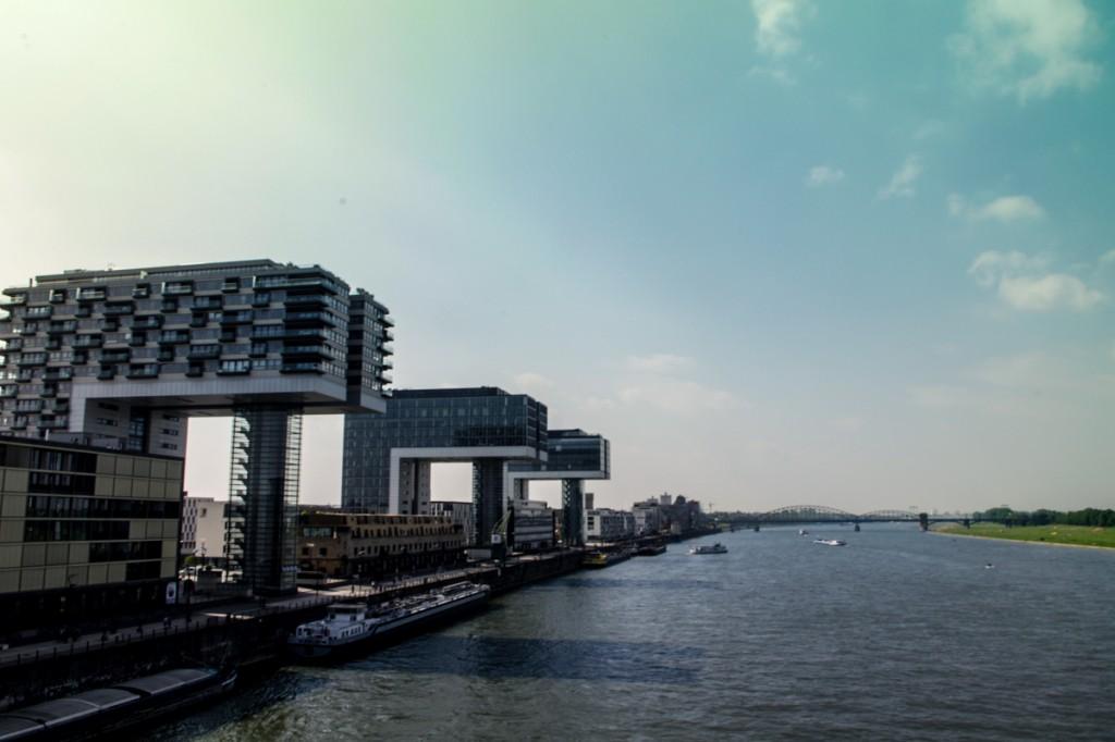 Drei Kranhäuser in Köln