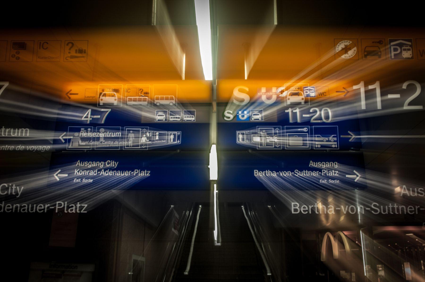 3D-Fotografie des Düsseldorfer Hauptbahnhofes