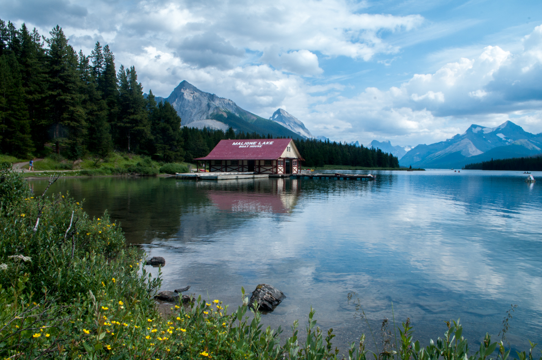 Der Maligne Lake in Kanada