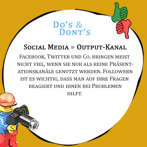 Ein SharePic mit Do's und Dont's
